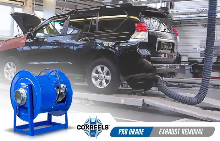 exhaust removal coxreels application