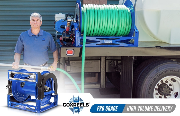 high volume delivery coxreels application