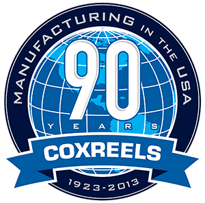Coxreels 90 Year Anniversary Logo